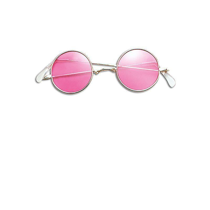 Lennon Glasses. Pink (Costume Accessories) - Unisex - One Size