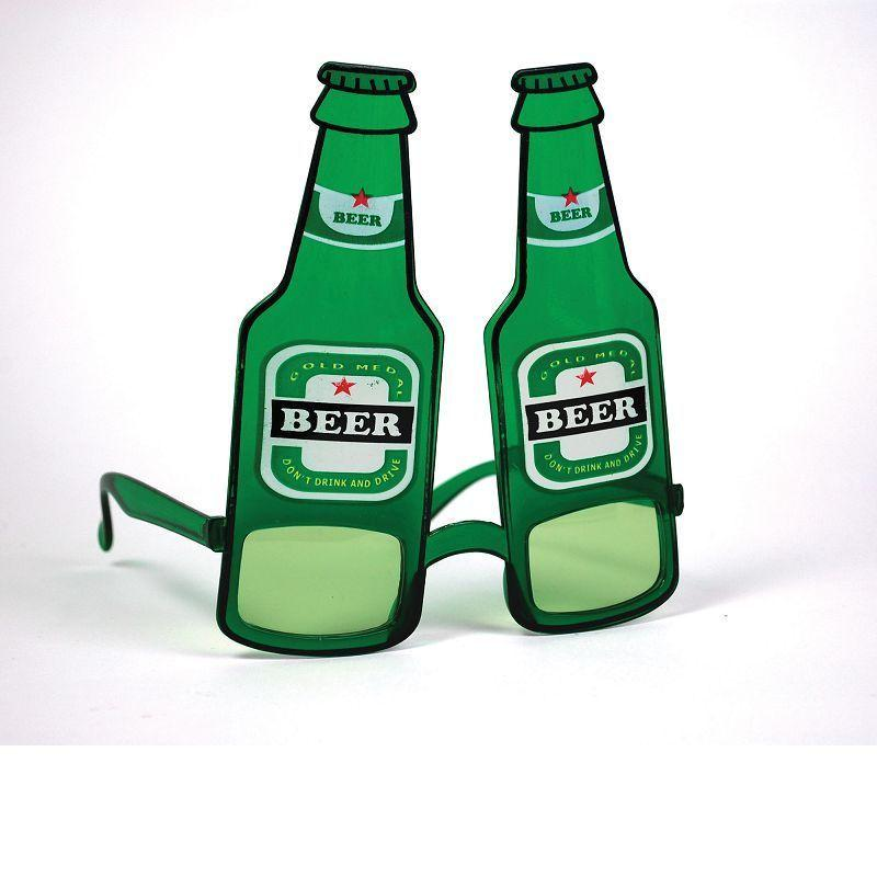 Beer Bottle Glasses (Costume Accessories) - Unisex - One Size