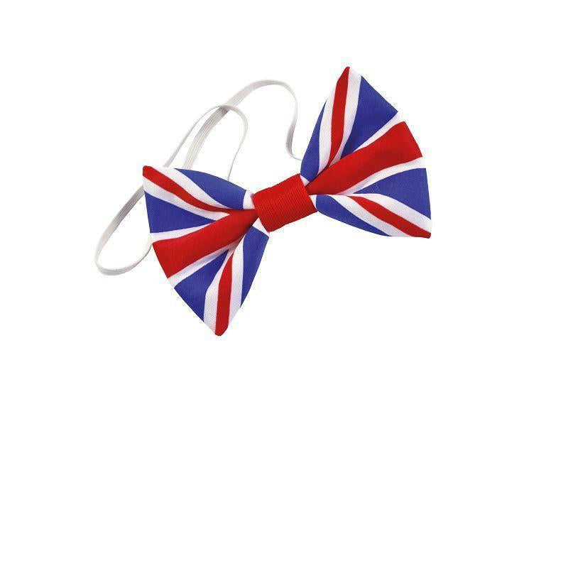 Union Jack Bow Tie. Cloth. (Costume Accessories) - Unisex - One Size.