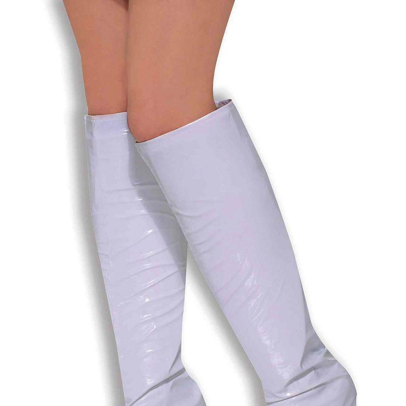 Womens Go Go Boot Tops. White (Costume Accessories) - Female - One Size Halloween Costume