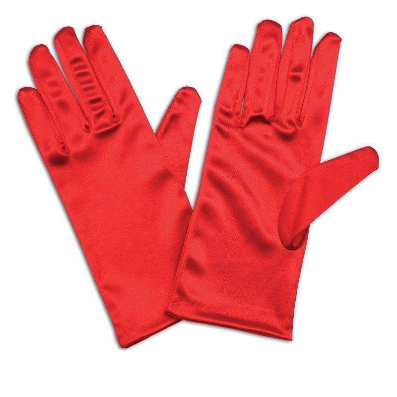 "Womens Gloves. Satin 9"" Red (Costume Accessories) - Female - One Size Halloween Costume"