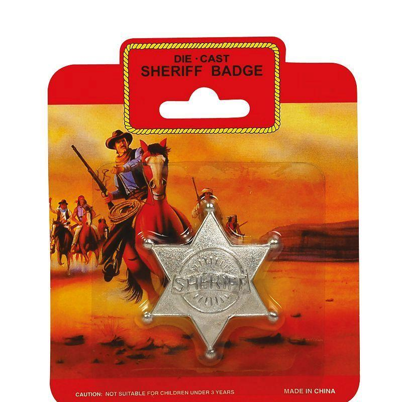 Mens Sheriff Badge - Metal (Costume Accessories) - Male - One Size Halloween Costume