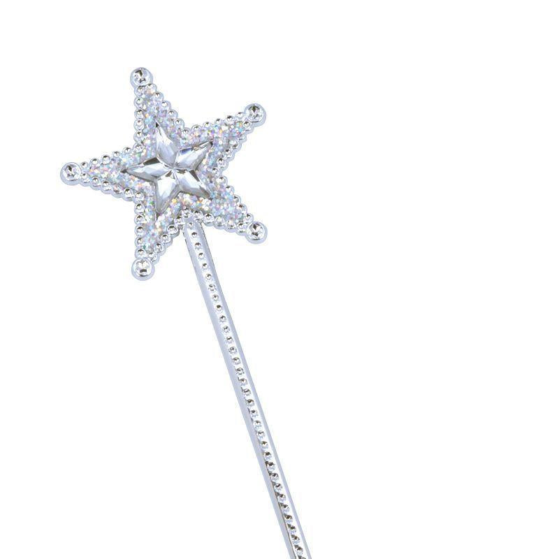 Womens Silver Star Wand. Clear Star Gem (Costume Accessories) - Female - One Size Halloween Costume