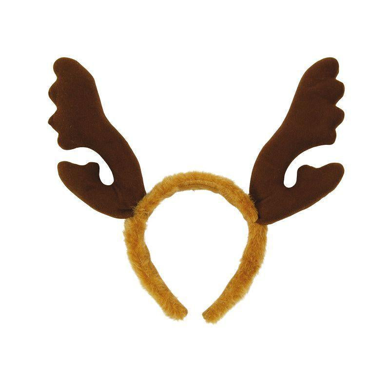Reindeer Antlers, Brown Fur (Costume Accessories) - Unisex - One Size