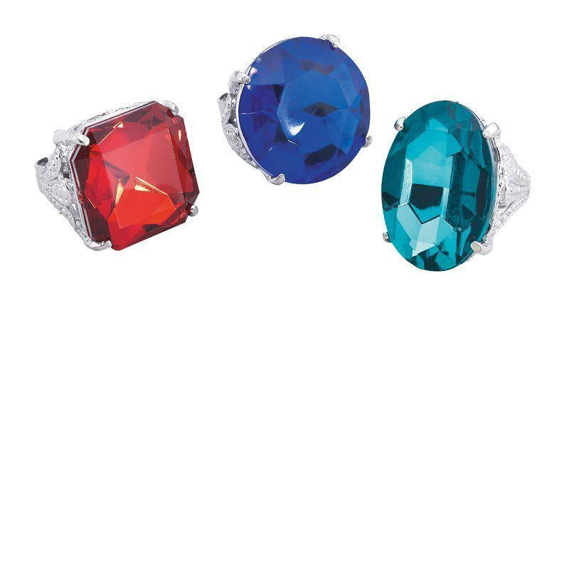 Womens Diamond Rings. Jumbo (Costume Accessories) - Female - Box 24 Halloween Costume