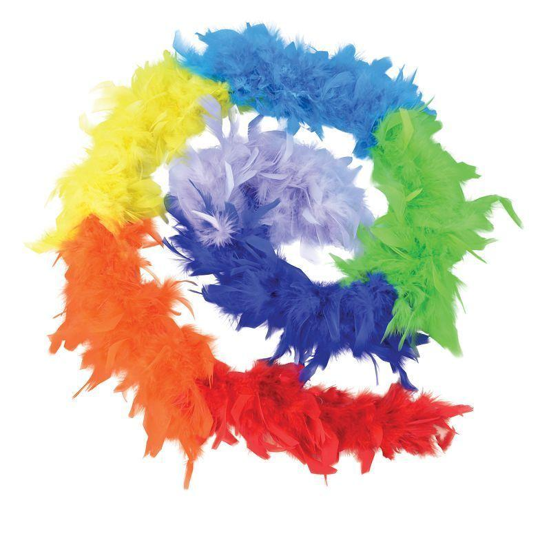 Womens Feather Boa, Rainbow (Costume Accessories) - Female - One Size Halloween Costume