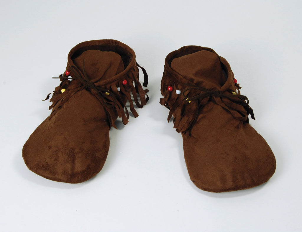 Hippy Indian Moccasins Mens Fancy Dress Costume Accessories Mens Brown