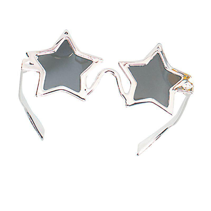 Star Glasses Silver (Costume Accessories) - Unisex - One Size