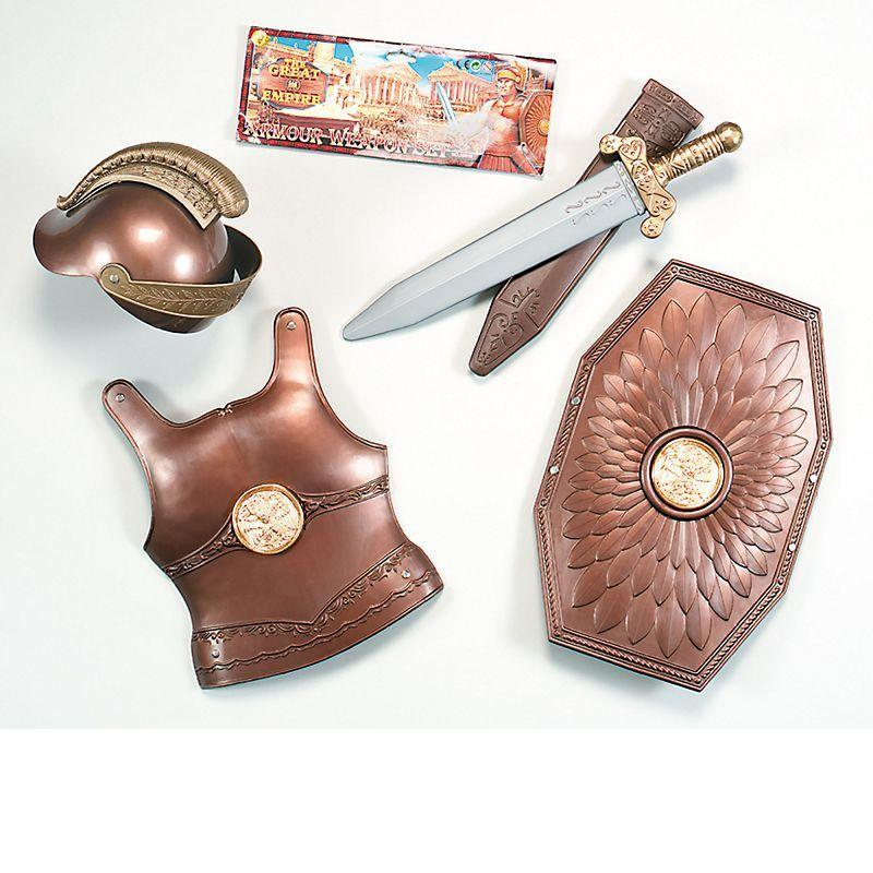 Boys Roman Armour/Weapon Set. Childs (Costume Accessories) - Male - One Size Halloween Costume