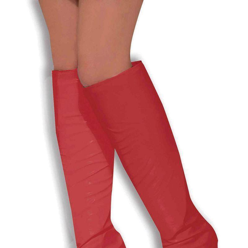Womens Go Go Boot Tops. Red (Costume Accessories) - Female - One Size Halloween Costume
