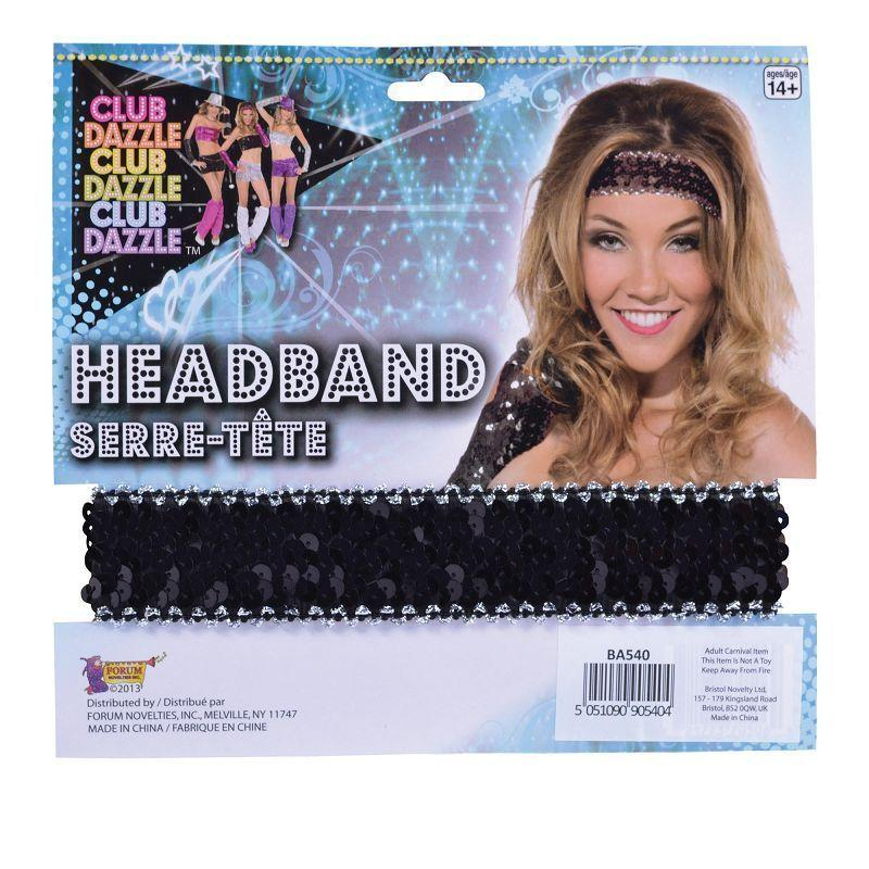 Womens Sequin Headband Black (Costume Accessories) - Female - One Size Halloween Costume