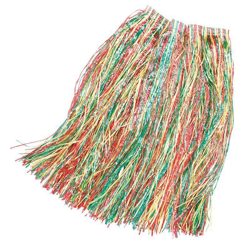 Grass Skirt 80cm Budget Multi (Costume Accessories) - Unisex - 80cm