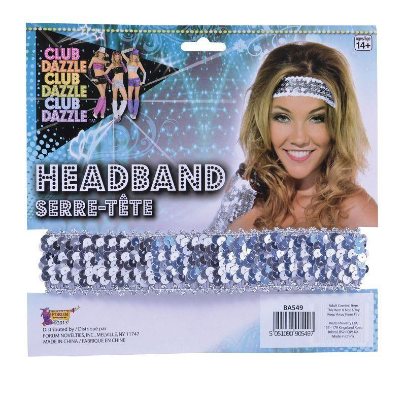 Womens Sequin Headband Silver (Costume Accessories) - Female - One Size Halloween Costume