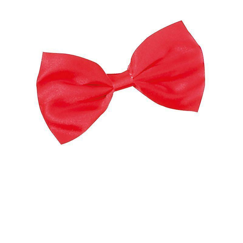 Mens Bow Tie. Small Red Budget (Costume Accessories) - Male - Small X 12 Halloween Costume