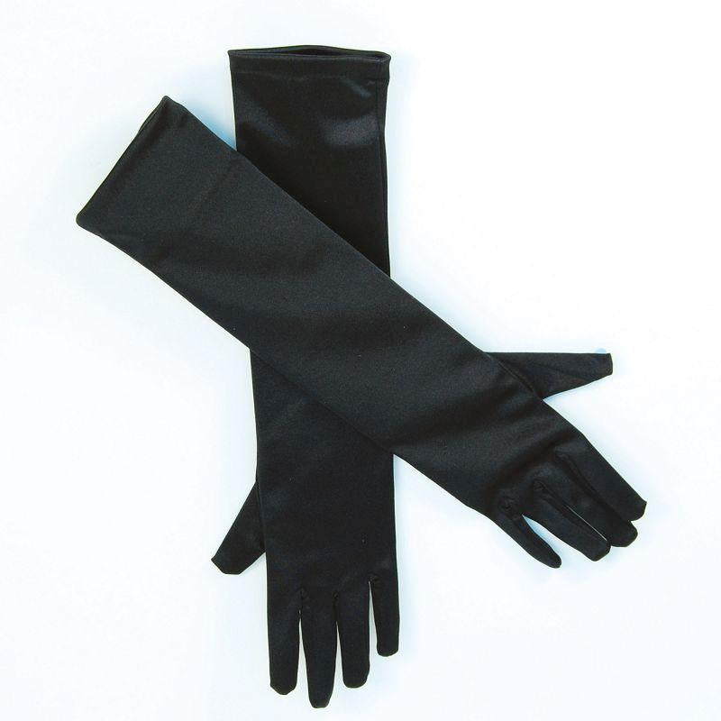"Womens Gloves. Satin 19"" Black (Costume Accessories) - Female - 19"" Halloween Costume"