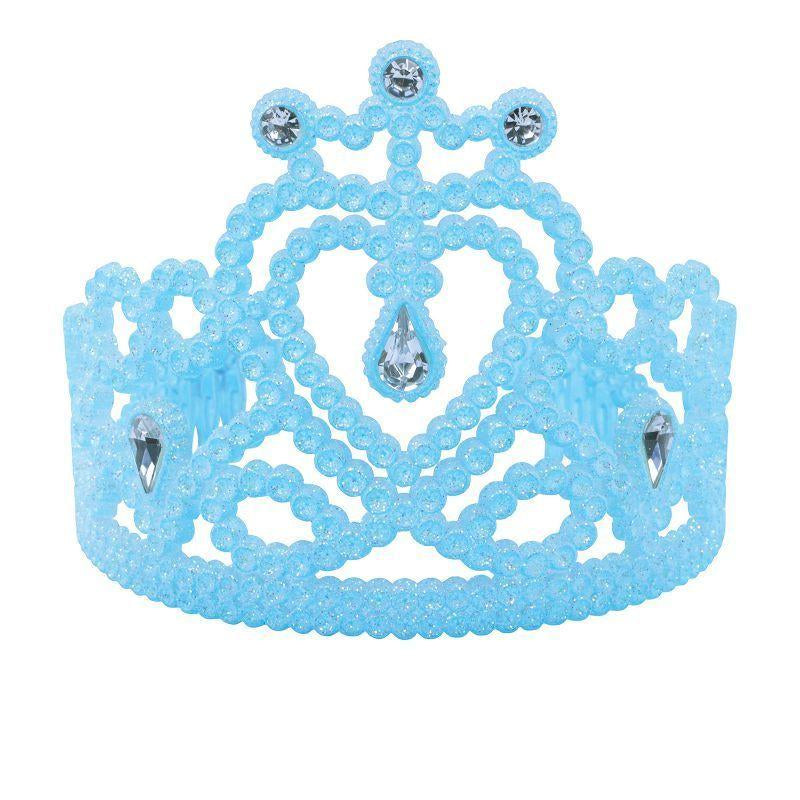 Womens Heart Tiara. Blue with Gems (Costume Accessories) - Female - One Size Halloween Costume