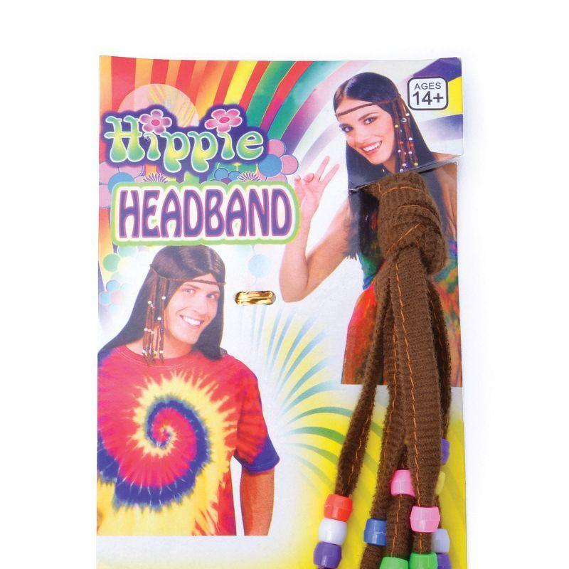 Hippie Beaded Headband (Costume Accessories) - Female - One Size