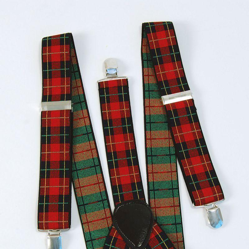 Tartan / Punk Braces (Costume Accessories) - Unisex - One Size