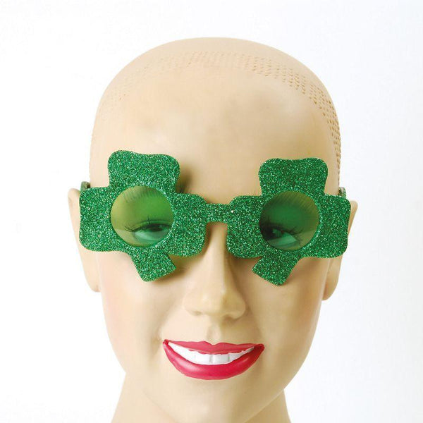 Womens Irish Glasses (Shamrock) (Costume Accessories) - Female - One Size Halloween Costume