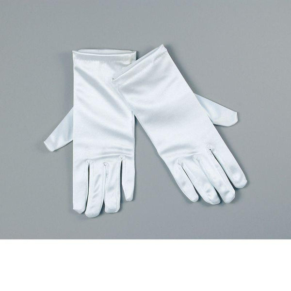 "Gloves. Satin 9"" White (Costume Accessories) - Unisex - 9"""