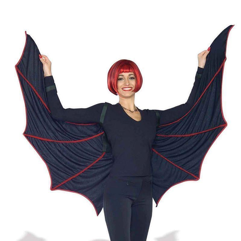 Velvet Bat Wings (Costume Accessories) - Unisex - One Size