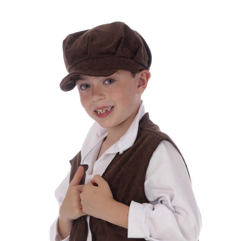 Boys Urchin Waistcoat. Childs+b1628 (Costume Accessories) - Male - One Size Halloween Costume