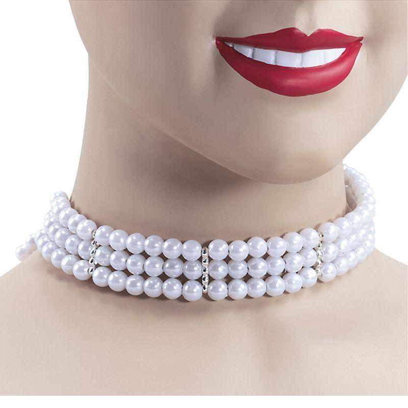 Womens Pearl Choker (Costume Accessories) - Female - One Size Halloween Costume