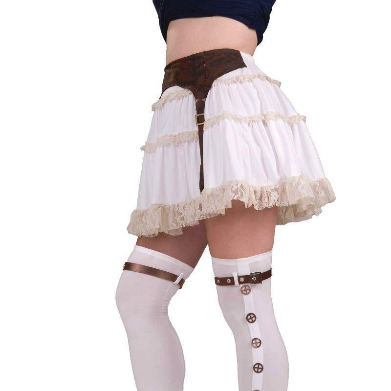 Womens Steampunk / Star Wars Buckle Spats (Costume Accessories) - Female - One Size Halloween Costume