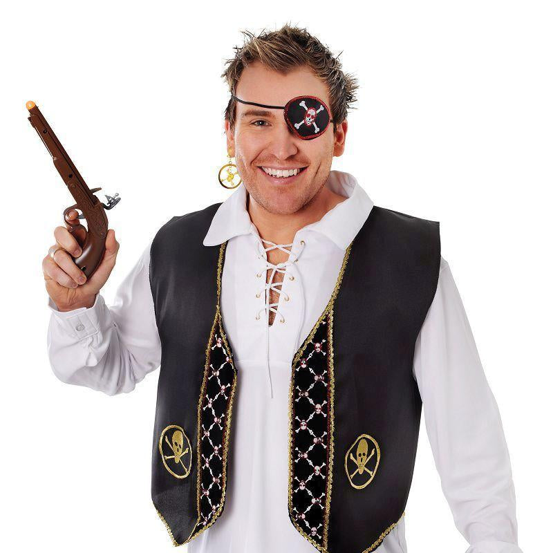 Mens Pirate Waistcoat Deluxe (Costume Accessories) - Male - One Size Halloween Costume