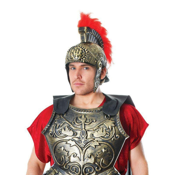 Mens Roman Chest Plate With Cape. (General Accesories) - Male - One Size Halloween Costume