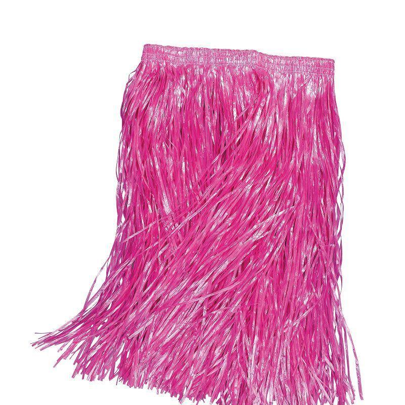 Womens Grass Skirt. Pink, Adult 55cm (Costume Accessories) - Female - 55cm Halloween Costume