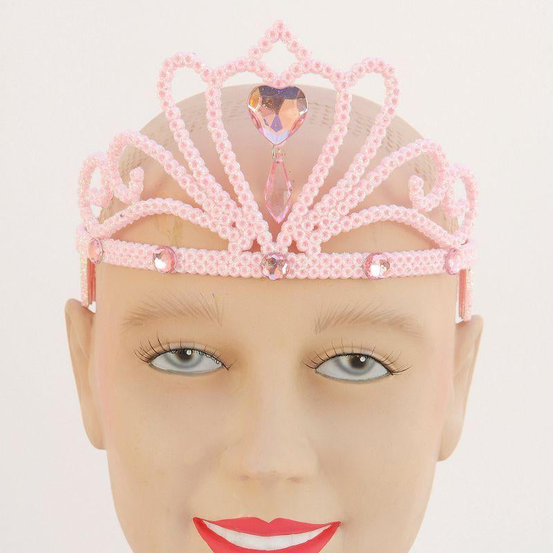 Womens Pink Glitter Tiara & Stone (Costume Accessories) - Female - One Size Halloween Costume