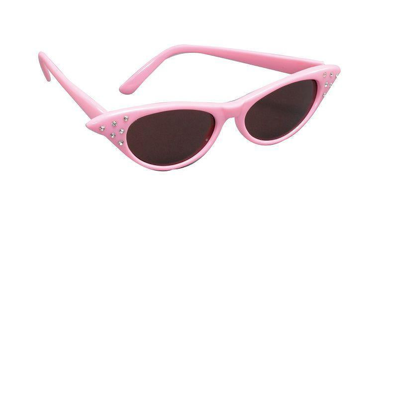 Womens Sunglasses/Dark Lens Pink 50s (Costume Accessories) - Female - One Size Halloween Costume
