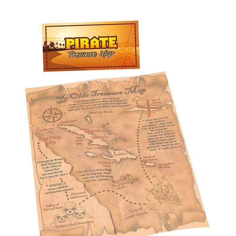 Pirate Treasure Map (Costume Accessories) - Unisex - One Size