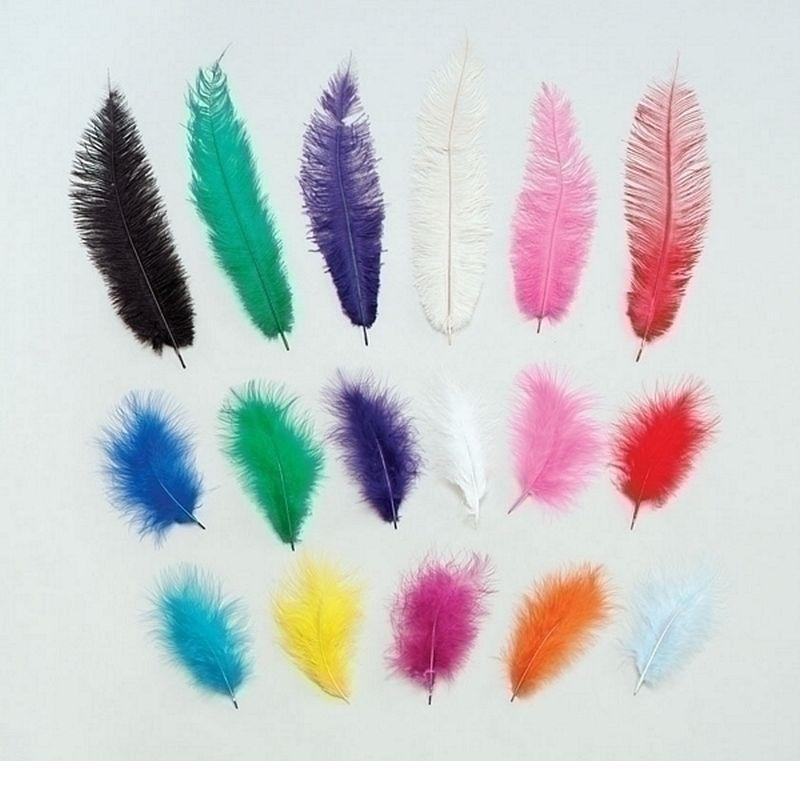 Womens Marabou Green Feathers 12/Pkt (Feathers) - Female - 12 Packet Halloween Costume