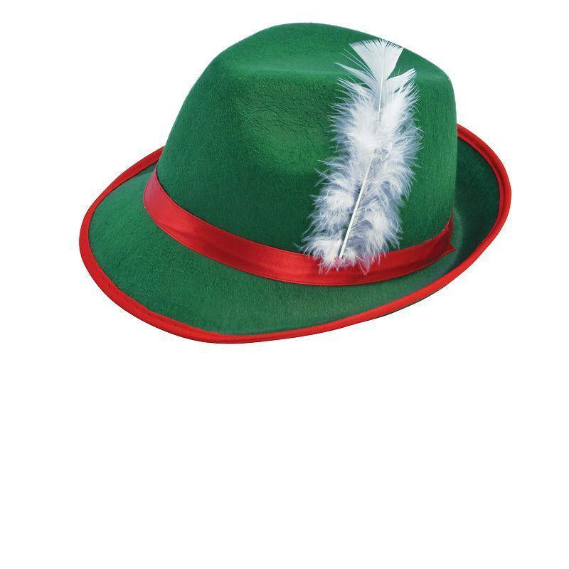 Mens Tyrolean Felt Hat (Hats) - Male - One Size Halloween Costume