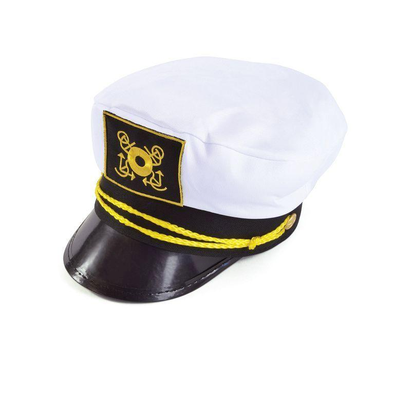 Mens Captains Cap (Hats) - Male - One Size Halloween Costume