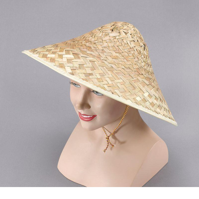 Mens Coolie Hat. Straw (Hats) - Male - One Size Halloween Costume