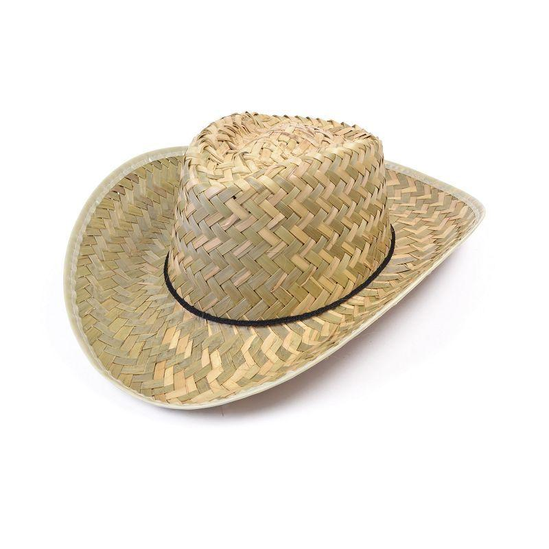 Mens Straw Stetson (Hats) - Male - One Size Halloween Costume