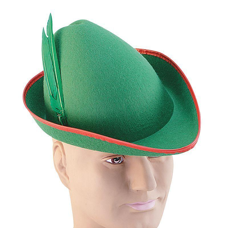 Mens Robin Hood Felt Hat. (Hats) - Male - One Size Halloween Costume