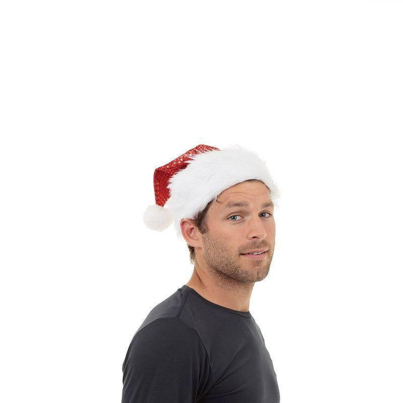 Santa Hat. Sequin (Hats) - Unisex - One Size