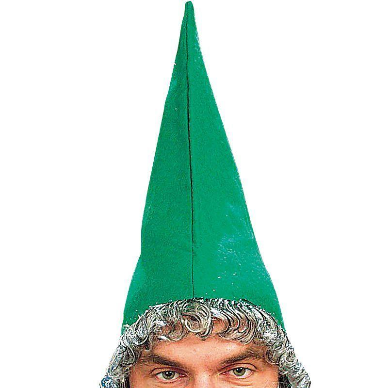 Mens Dwarf Hat Green & Beard (Hats) - Male - One Size Halloween Costume