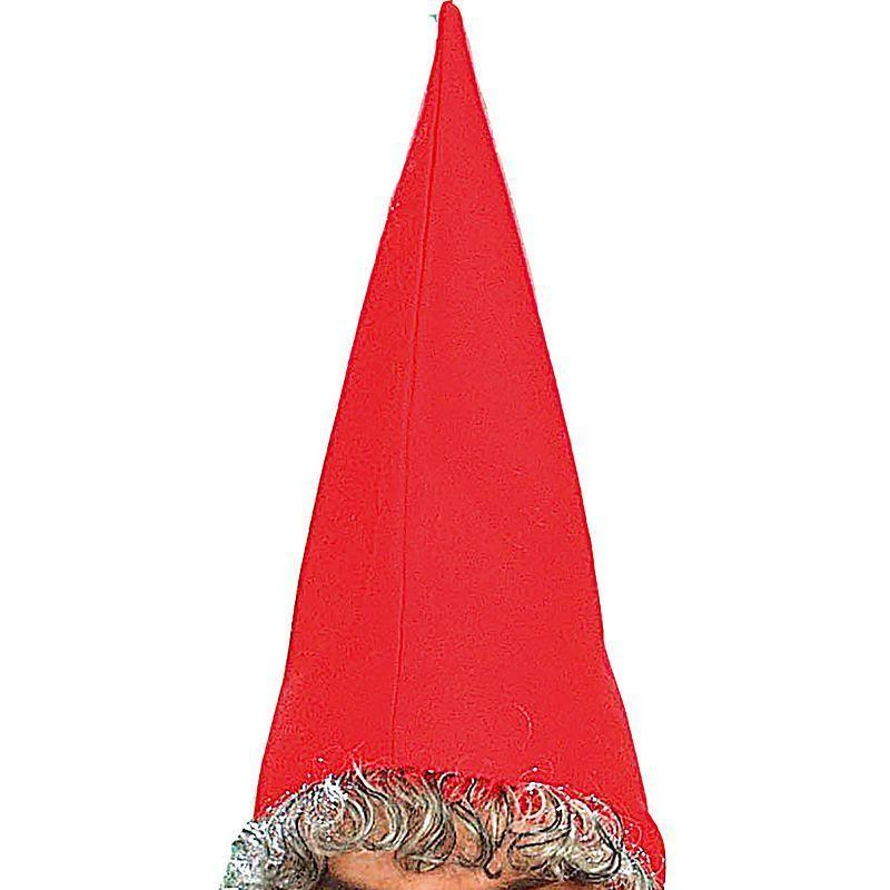 Mens Dwarf Hat Red & Beard (Hats) - Male - One Size Halloween Costume