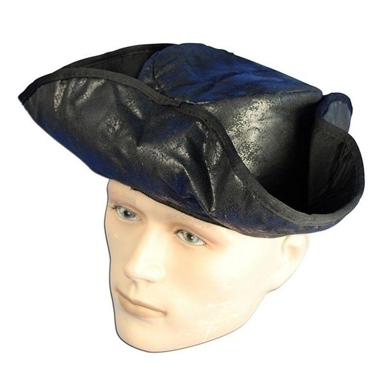 Pirate Hat Distressed Black (Hats) - Unisex - One Size