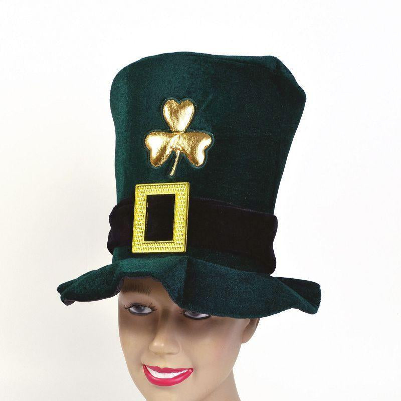 Irish Hat. Velvet, Green (Hats) - Unisex - One Size