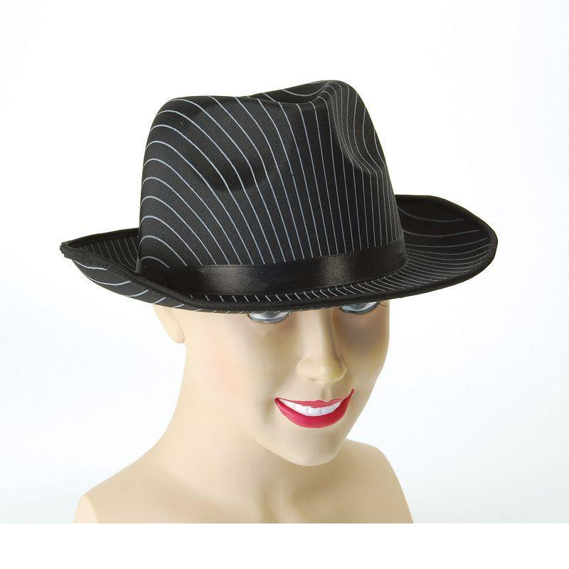 Gangster Hat. Pin Stripe (Hats) - Unisex - One Size