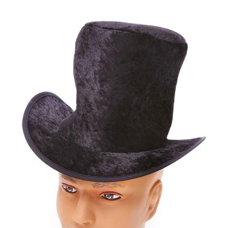Mens Top Hat. Childs Black Velvet. (Hats) - Male - One Size. Halloween Costume