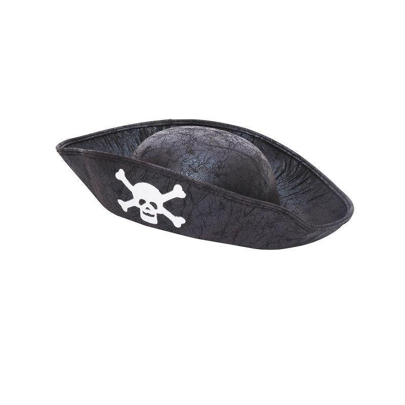 Pirate Hat. Black. Childs Size (Hats) - Unisex - One Size
