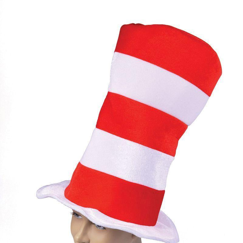 Mens Red/White Striped Top Hat. Adult (Hats) - Male - One Size Halloween Costume