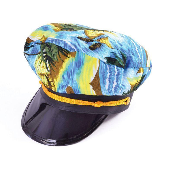 Mens Captain Hat. Hawaiian. (Hats) - Male - One Size Halloween Costume